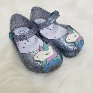 Cat & Jack Girls size 5 Jelly Shoes Mary Janes